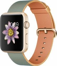 Apple Watch 42mm Carcasa Aluminiu Aurie Curea Sport Albastra MMFQ2