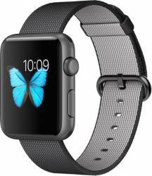 Apple Watch 42mm Carcasa Aluminiu Neagra si Curea Nylon Black MMFR2