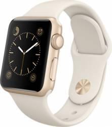 Apple Watch 38mm Carcasa Aluminiu Aurie si Curea Sport Antique Alba MLCJ2