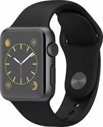 Smartwatch Apple Watch 1 38mm Carcasa Aluminiu Neagra si Curea Sport Neagra MP022 Smartwatch
