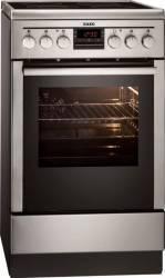 Aragaz AEG 47095VD-MN Electric 4 Zone de gatit Grill Dispozitiv siguranta Inox Aragazuri