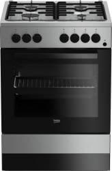 Aragaz Beko FSE62110DX 4 Arzatoare Gaz cuptor electric aprindere electrica 60 cm Inox Resigilat Aragazuri