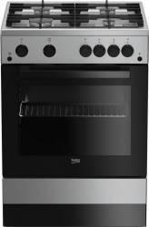 Aragaz Beko FSGT62130DXO Gaz 4 arzatoare Aprindere electrica Grill Rotisor 60 cm Inox Aragazuri
