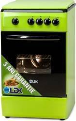 Aragaz LDK 5060 NG Gaz 4 arzatoare Dispozitiv siguranta 50cm Verde Aragazuri