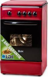 Aragaz LDK 5060 NG Gaz 4 arzatoare Dispozitiv siguranta 50cm Red