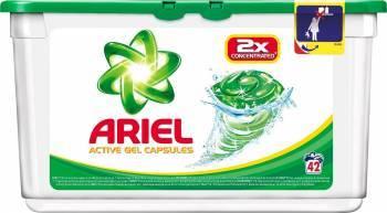 Ariel gel capsule Regular 42x27.8ml Detergent si balsam rufe