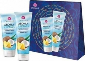 Pachet promotional Dermacol Aroma Ritual Caribbean Dream Relaxing Body Lotion 200ml + Relaxing Shower Gel 250ml