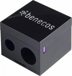 Ascutitoare Benecos dubla pentru creioane machiaj Black Accesorii Cosmetice