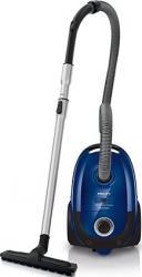 Aspirator cu sac Philips FC852009 4L 750W Tub Telescopic Filtru HEPA Albastru Bonus Laveta Dust Microfibra cu
