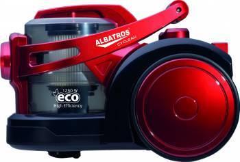 Aspirator fara sac Albatros Cyclean Eco 3.2L 220W Tub Telescopic HEPA Rosu