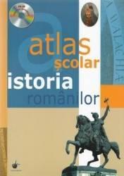 Atlas scolar. Istoria romanilor + CD