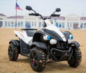 Atv electric 12V Hawk White Masinute si vehicule pentru copii