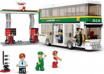 Autobuz cu doua nivele Sluban Town M38-B0331 Lego