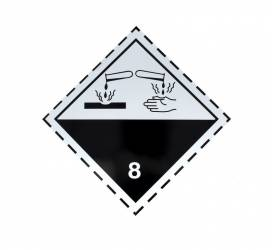 Autocolant eticheta avertizareinformare ADR 8 Cargoparts Scule auto and Accesorii