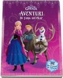 Aventuri in tara lui Olaf - Disney Regatul de Gheata 32 de planse de colorat