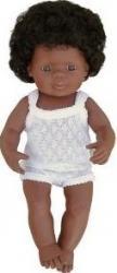 Baby afroamerican fata Miniland 40 cm Papusi figurine si accesorii papusi