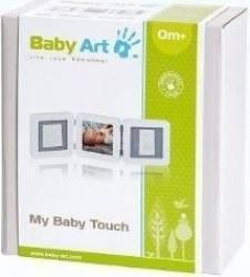 Baby Art - My Baby Touch. Set de amprenta cu rama de poza - Alb Carti