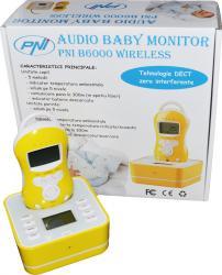 Baby Audio Monitor PNI Wireless B6000 Monitorizare bebelusi