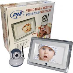 Baby Audio Monitor PNI Wireless B7000 cu ecran de 7 inch Monitorizare bebelusi