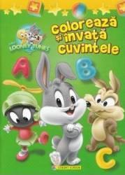 Baby Looney Tunes - Coloreaza si invata cuvintele Carti