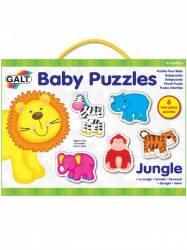 Baby Puzzle Animale din jungla 2 piese Jucarii si Jocuri