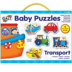 Baby Puzzles Set de 6 puzzle-uri Transport 2 piese Jucarii si Jocuri