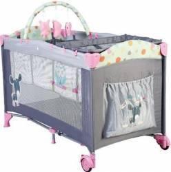 Patut Pliant Cu 2 Nivele Sleepwell Pink Patut bebe,tarcuri si saltele