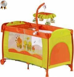 Patut Pliant Cu 2 Nivele Si Mini-Carusel Sleeper Deluxe Orange Patut bebe,tarcuri si saltele