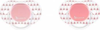 Set 2 suzete ortodontice reversibile 0-6 luni Azdec Girl Suzete si accesorii