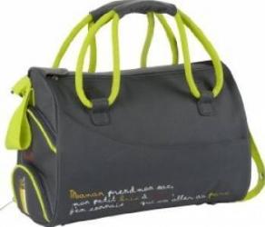 Geanta pentru scutece Maternity Bag Grey Genti pentru mamici