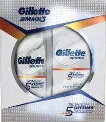 Balsam Gillette Mach3 Irritation Defense 50ml + Gel de ras Gillette Mach3 200ml
