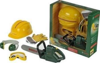 Banc de lucru Klein Bosch Chainsaw With Helmet and Gloves Jucarii Interactive
