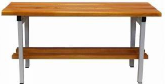 Bancuta vestiar L-1500 mm 1500x370x480 mm din lemn superior de fag + suport incaltaminte Rafturi si vestiare