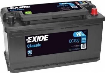 Baterie auto Exide Classic 90AH 720A borna normala Baterii auto