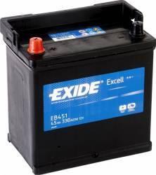 Baterie auto Exide Excell 45AH 330A borna inversa Baterii auto