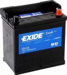 Baterie auto Exide Excell 45AH 330A borna normala Baterii auto