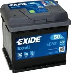 Baterie auto Exide Excell 50AH 450A borna inversa Baterii auto