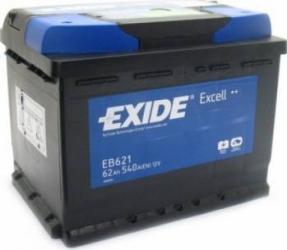 Baterie auto Exide Excell 62AH 540A borna inversa Baterii auto