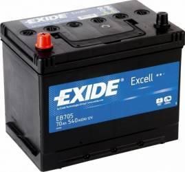 Baterie auto Exide Excell 70AH 540A borna inversa Baterii auto