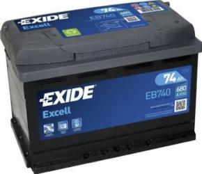 Baterie auto Exide Excell 74AH 680A borna normala Baterii auto