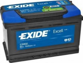 Baterie auto Exide Excell 80AH 640A borna normala Baterii auto