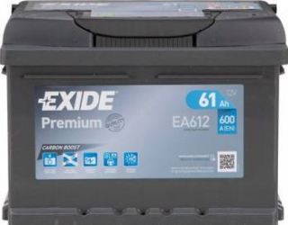 Baterie auto Exide Premium 61AH 600A borna normala Baterii auto