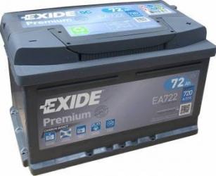 Baterie auto Exide Premium 72AH 720A borna normala Baterii auto