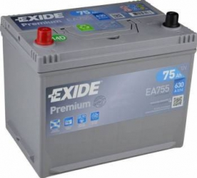 Baterie auto Exide Premium 75AH 630A borna inversa Baterii auto