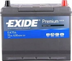 Baterie auto Exide Premium 75AH 630A borna normala Baterii auto