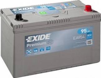 Baterie auto Exide Premium 95AH 800A borna normala Asia Baterii auto