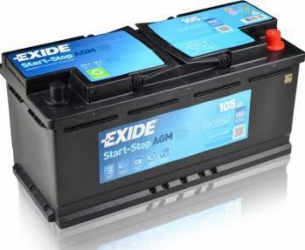 Baterie auto Exide Start-Stop AGM 105AH 950A borna normala Baterii auto