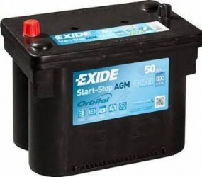 Baterie auto Exide Start-Stop AGM 50AH 800A borna inversa Baterii auto