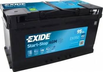 Baterie auto Exide Start-Stop AGM 95AH 850A borna normala Baterii auto
