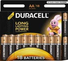 Baterie Duracell Basic AA LR06 18buc Acumulatori Baterii Incarcatoare